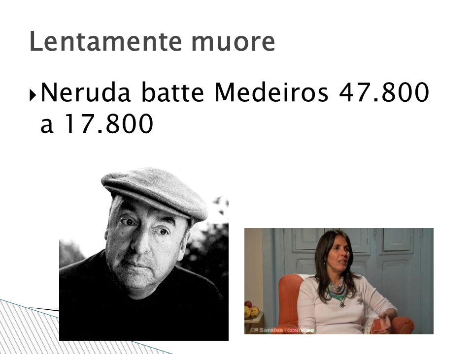 Lentamente muore Neruda batte Medeiros 47.800 a 17.800