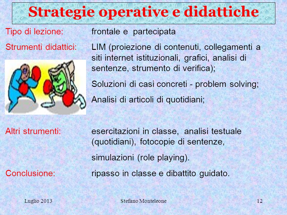 Strategie operative e didattiche