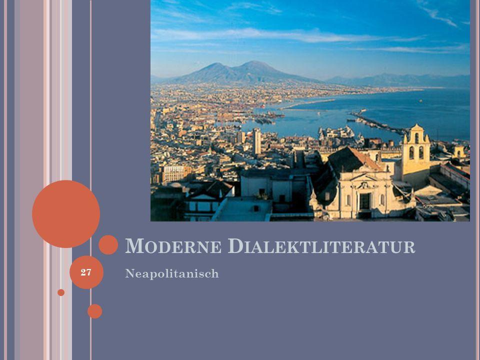 Moderne Dialektliteratur