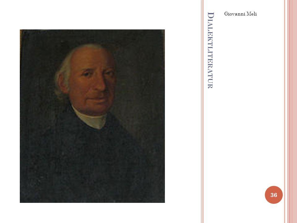 Giovanni Meli Dialektliteratur