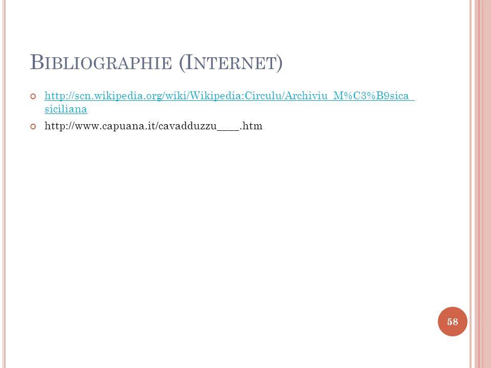 Bibliographie (Internet)