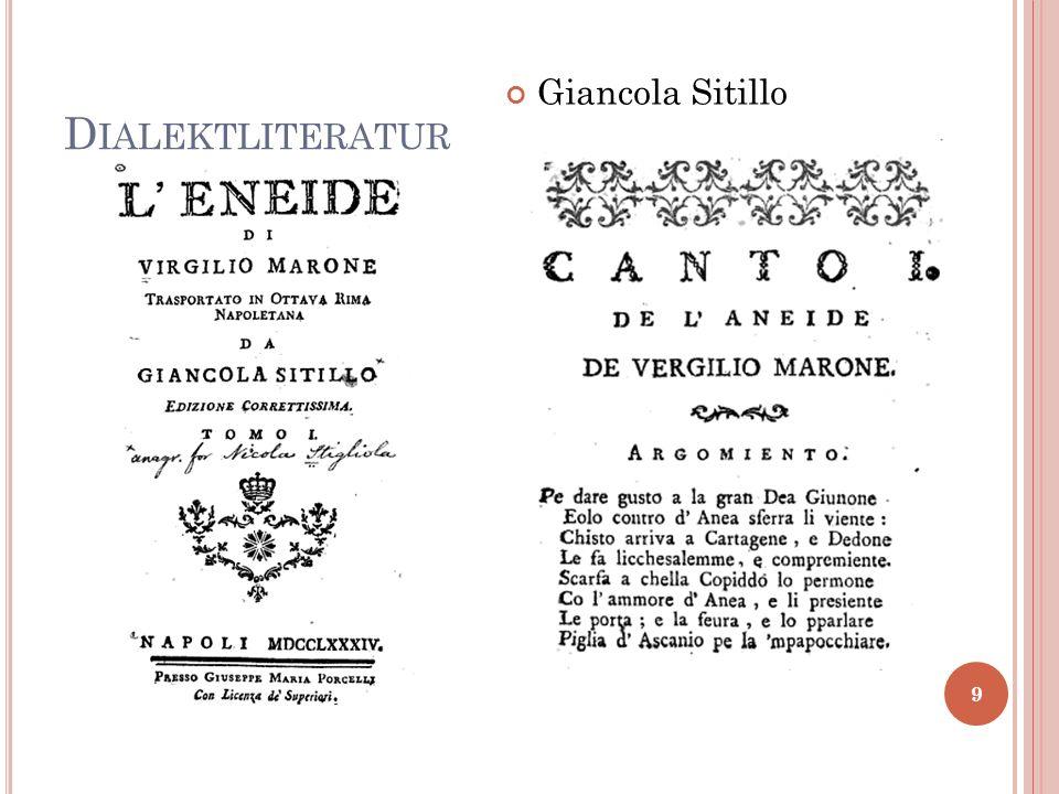Dialektliteratur Giancola Sitillo