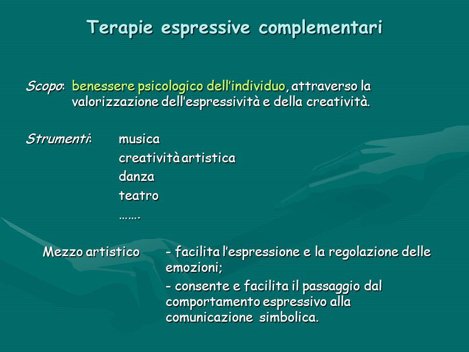 Terapie espressive complementari