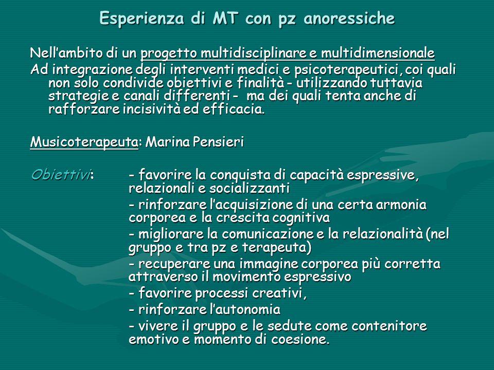 Esperienza di MT con pz anoressiche