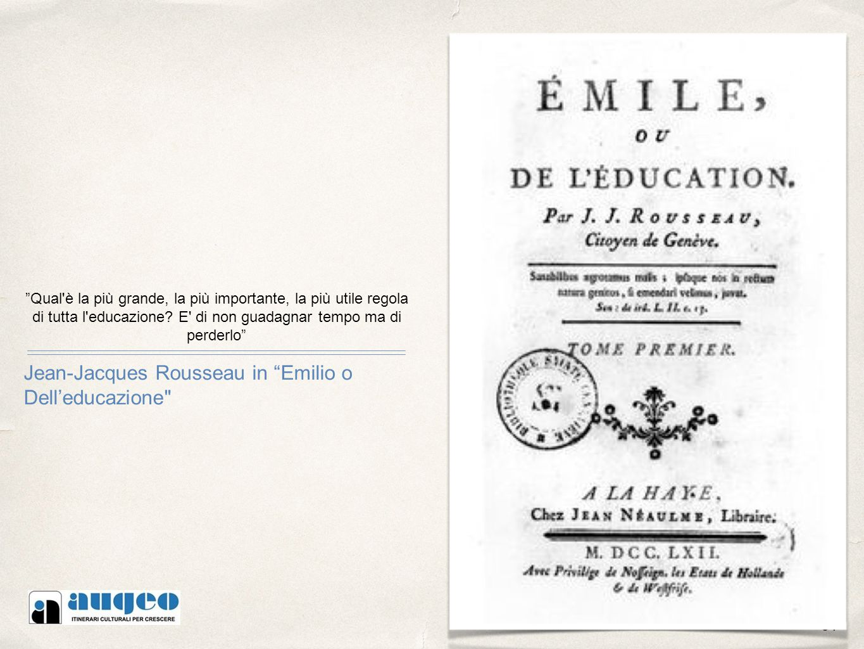 Jean-Jacques Rousseau in Emilio o Dell'educazione
