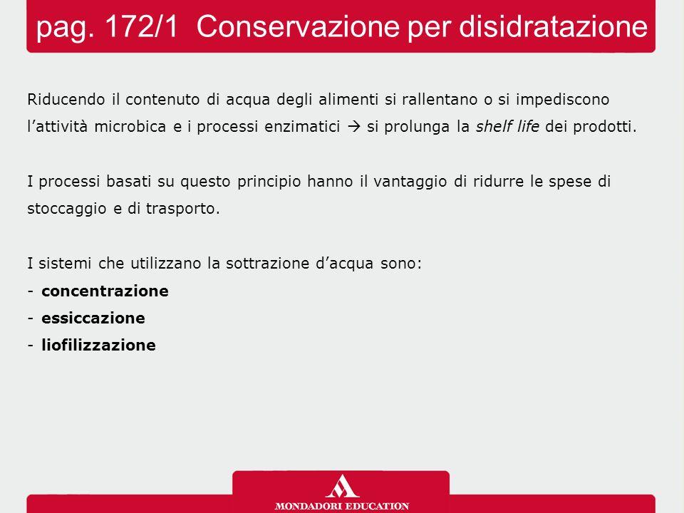 pag. 172/1 Conservazione per disidratazione