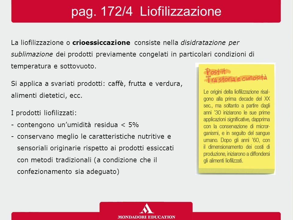 pag. 172/4 Liofilizzazione