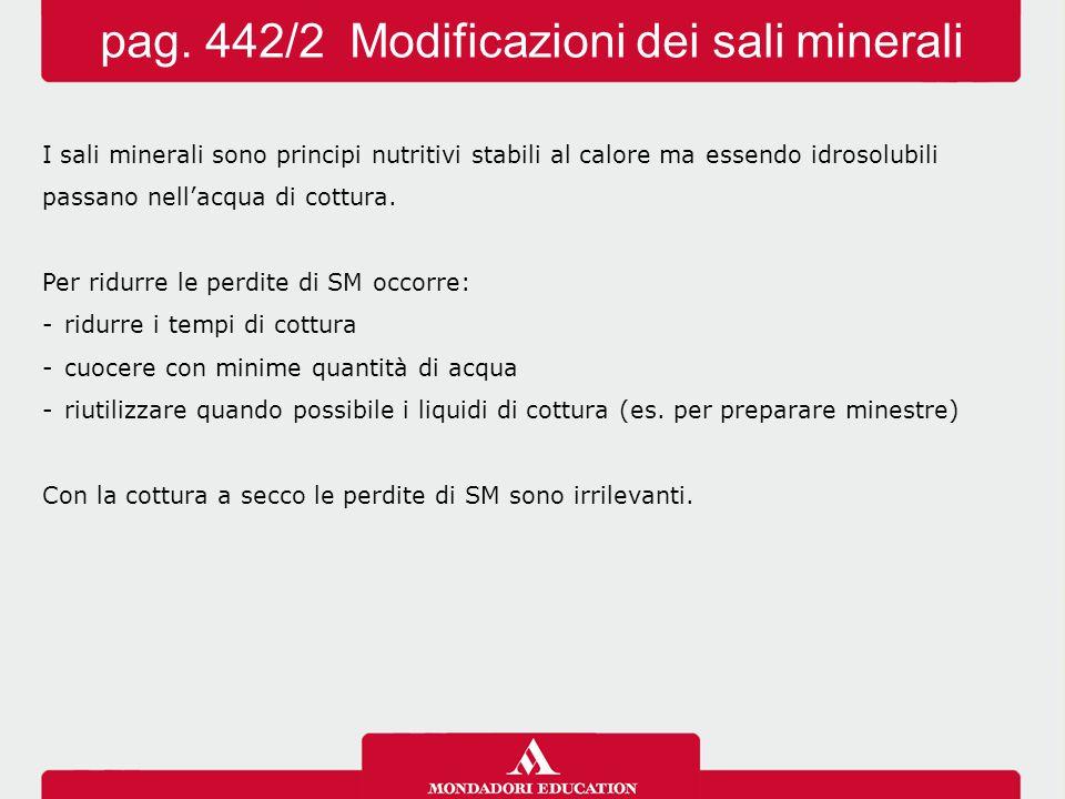 pag. 442/2 Modificazioni dei sali minerali