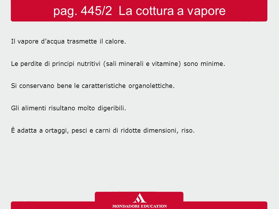 pag. 445/2 La cottura a vapore