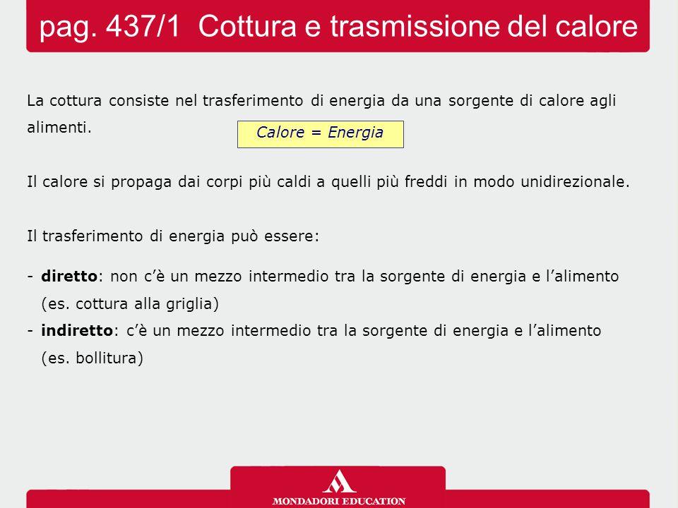 pag. 437/1 Cottura e trasmissione del calore