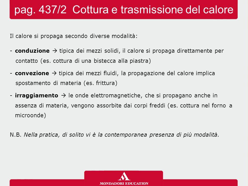 pag. 437/2 Cottura e trasmissione del calore