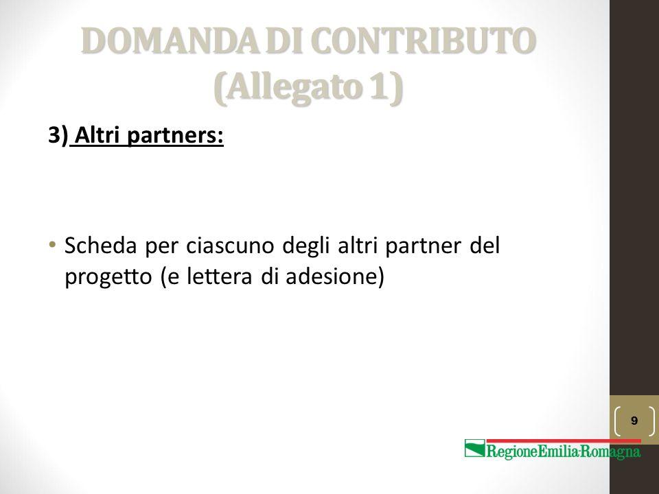 DOMANDA DI CONTRIBUTO (Allegato 1)