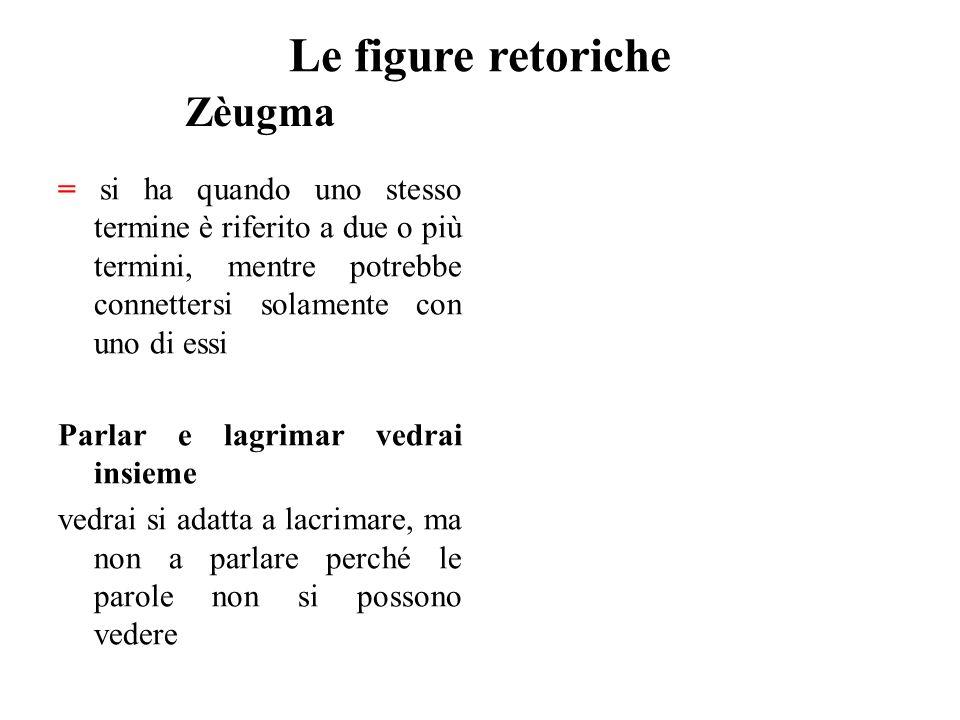 Le figure retoriche Zèugma