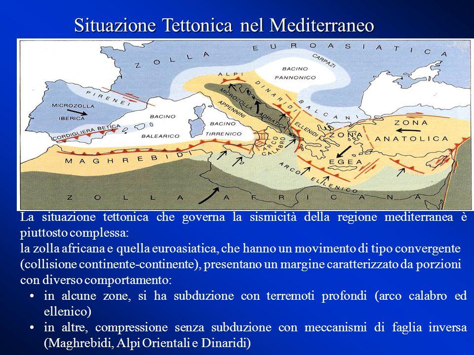Situazione Tettonica nel Mediterraneo
