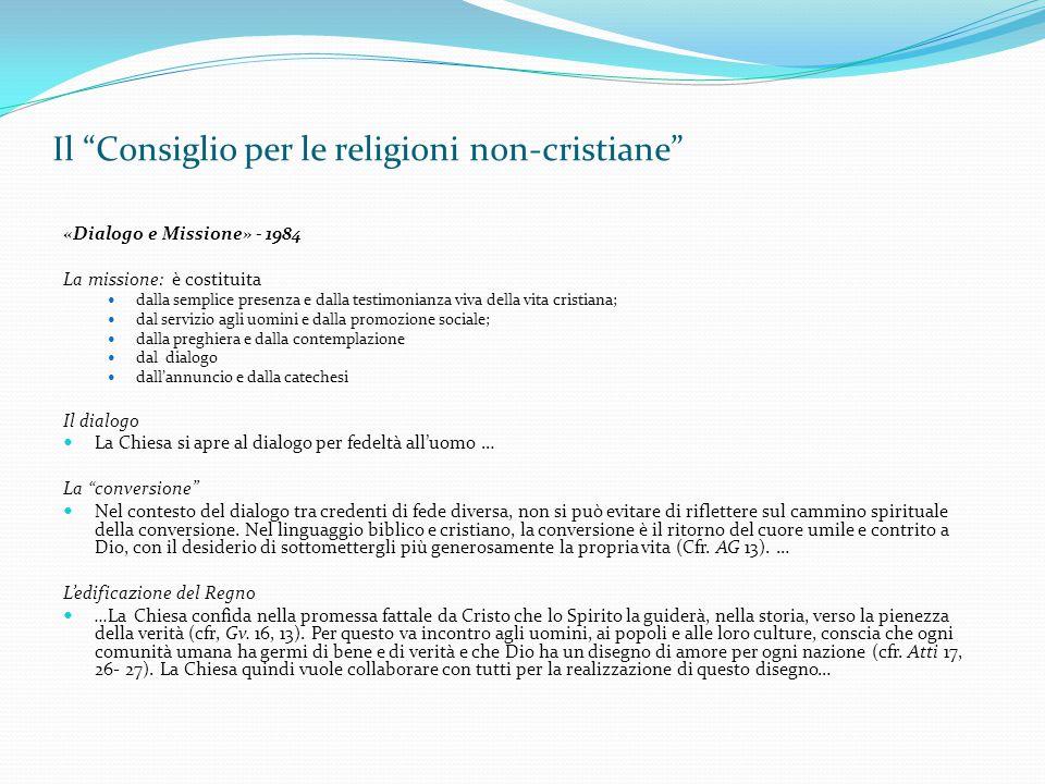 Il Consiglio per le religioni non-cristiane