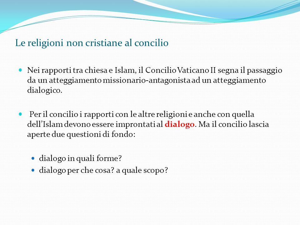 Le religioni non cristiane al concilio