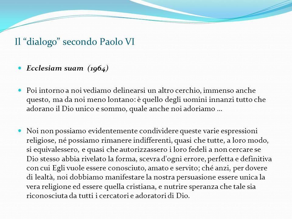 Il dialogo secondo Paolo VI