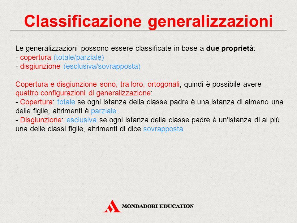 Classificazione generalizzazioni