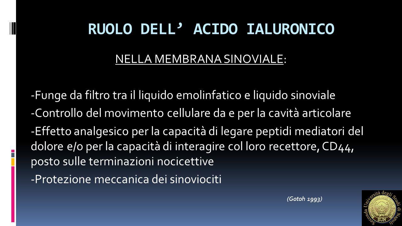 RUOLO DELL' ACIDO IALURONICO