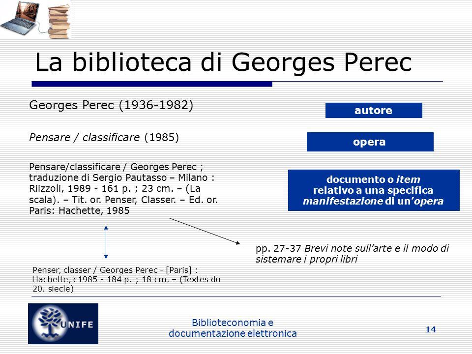 La biblioteca di Georges Perec