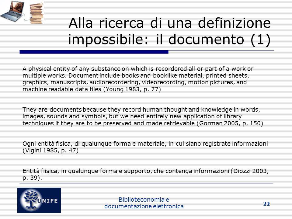 Alla ricerca di una definizione impossibile: il documento (1)