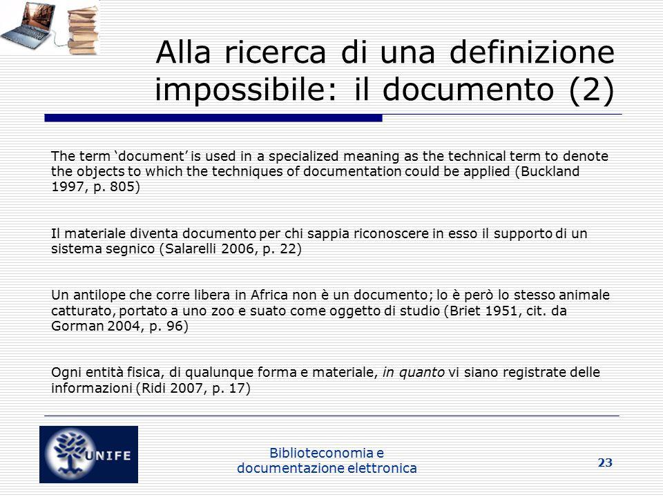 Alla ricerca di una definizione impossibile: il documento (2)
