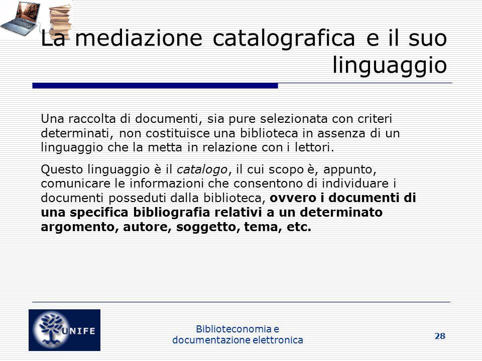 La mediazione catalografica e il suo linguaggio