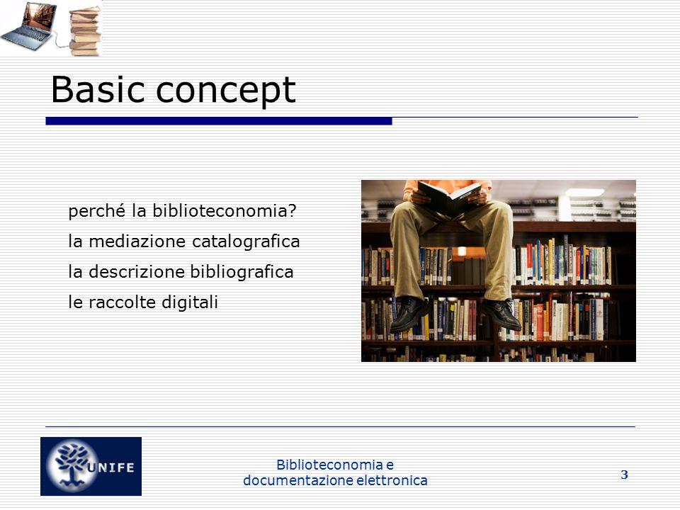 Biblioteconomia e documentazione elettronica