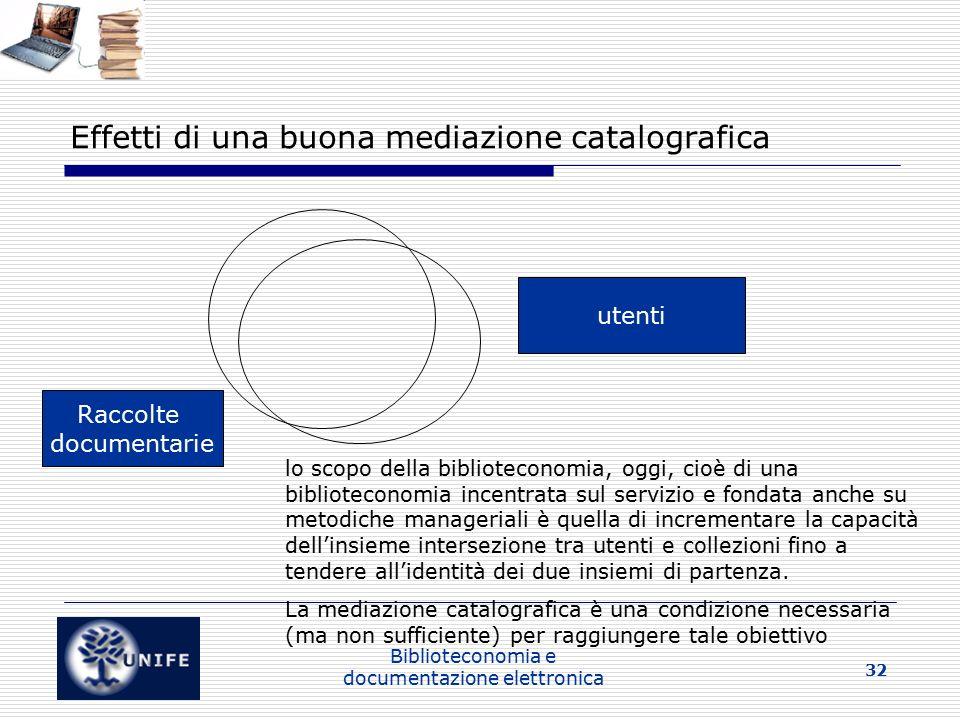 Effetti di una buona mediazione catalografica