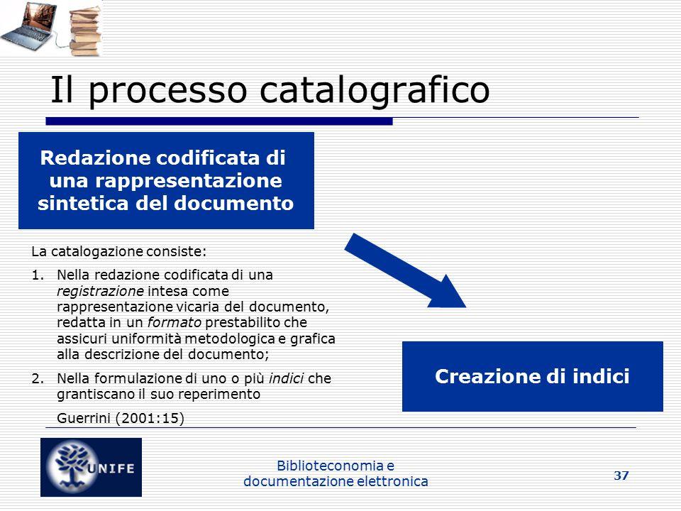 Il processo catalografico