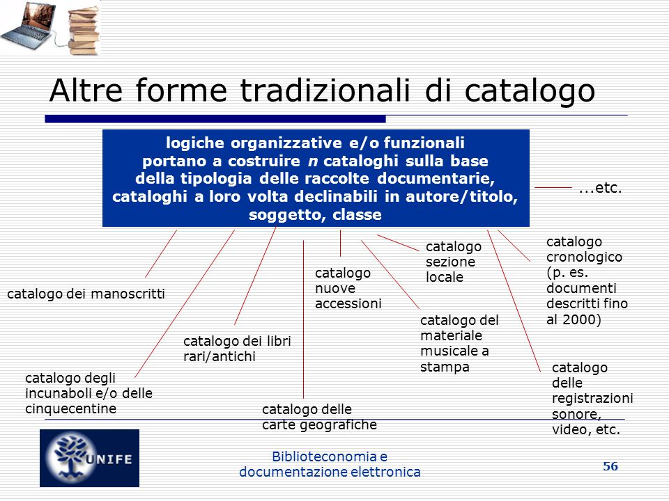 Altre forme tradizionali di catalogo