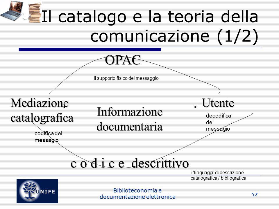 Il catalogo e la teoria della comunicazione (1/2)