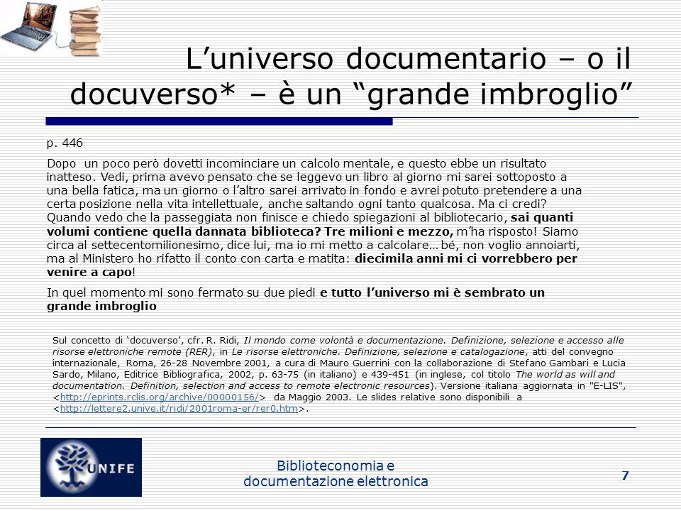 L'universo documentario – o il docuverso* – è un grande imbroglio