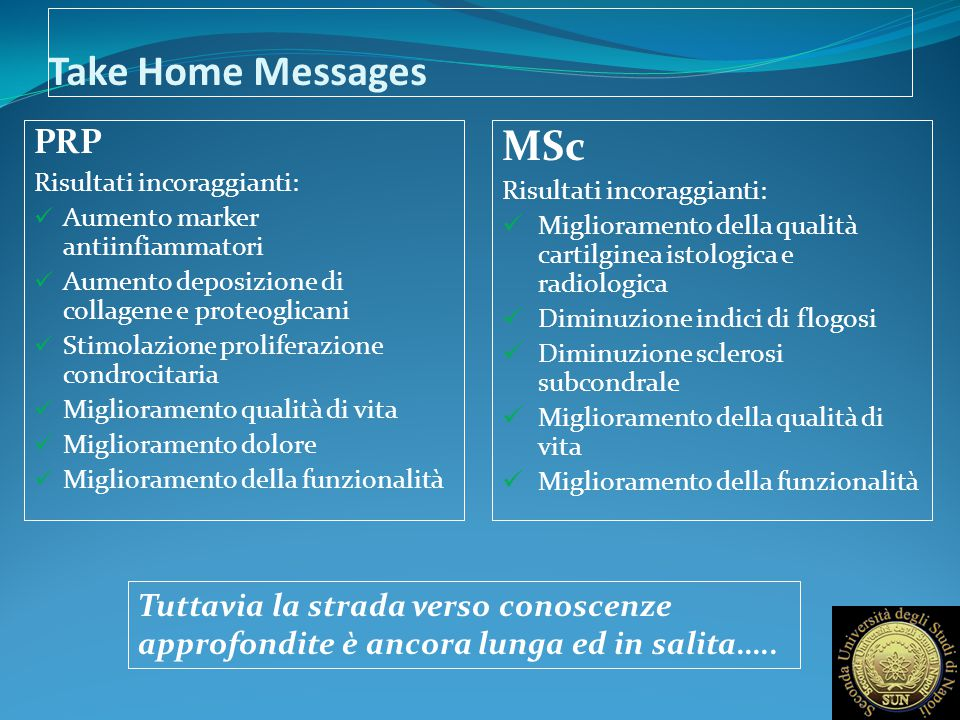 Take Home Messages MSc PRP
