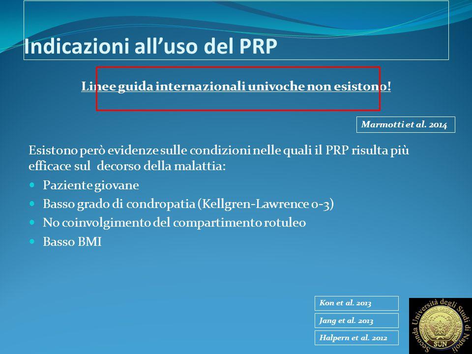 Indicazioni all'uso del PRP