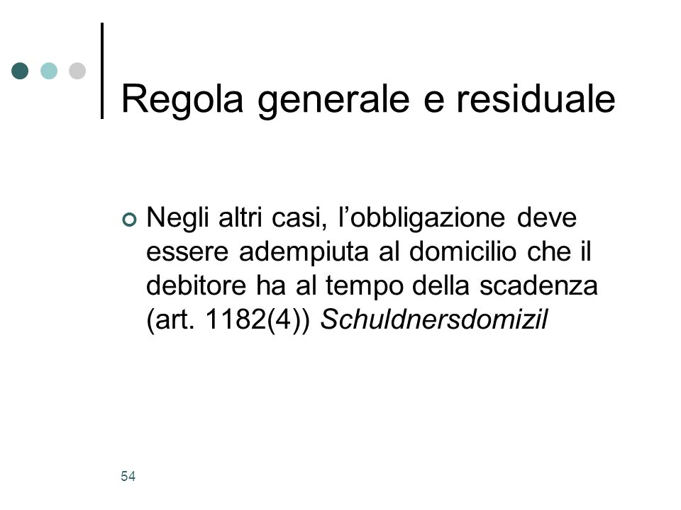 Regola generale e residuale