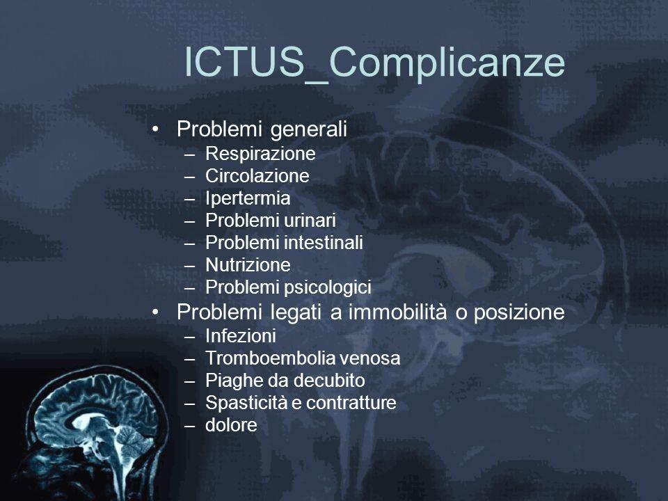 ICTUS_Complicanze Problemi generali