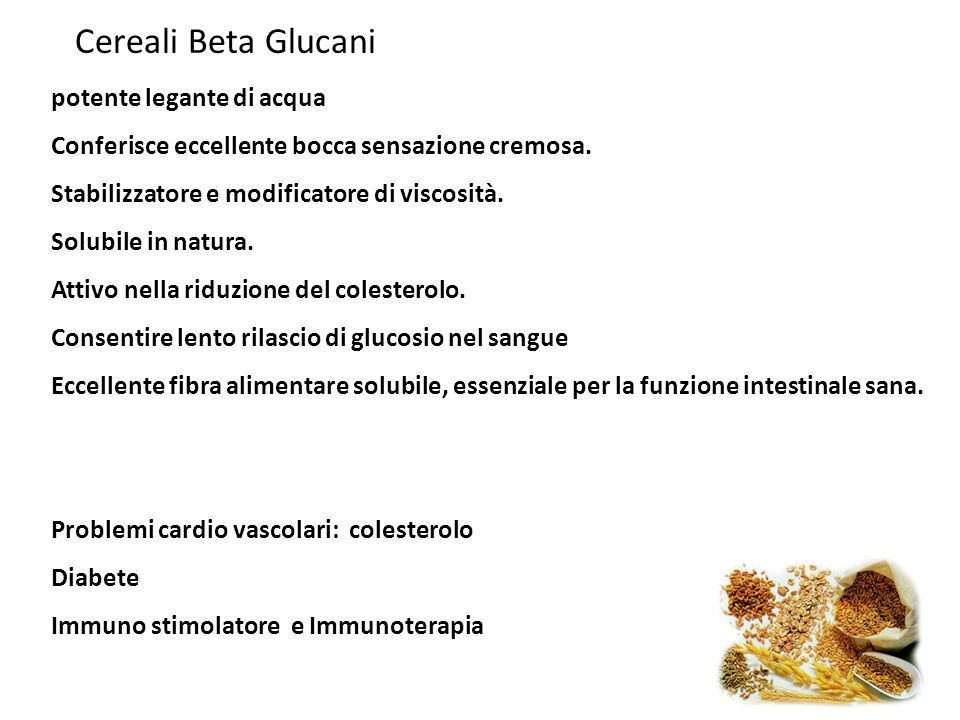 Cereali Beta Glucani