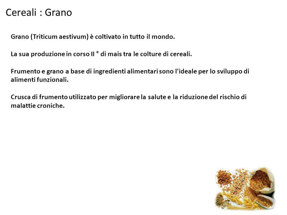 Cereali : Grano