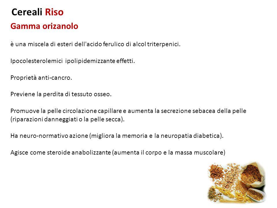 Cereali Riso Gamma orizanolo