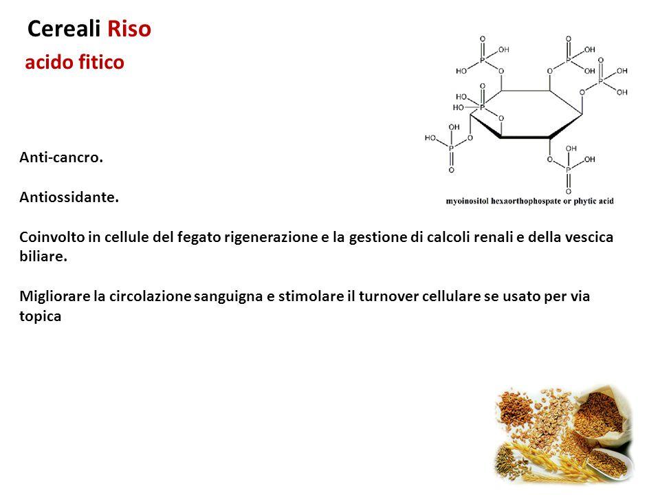 Cereali Riso acido fitico