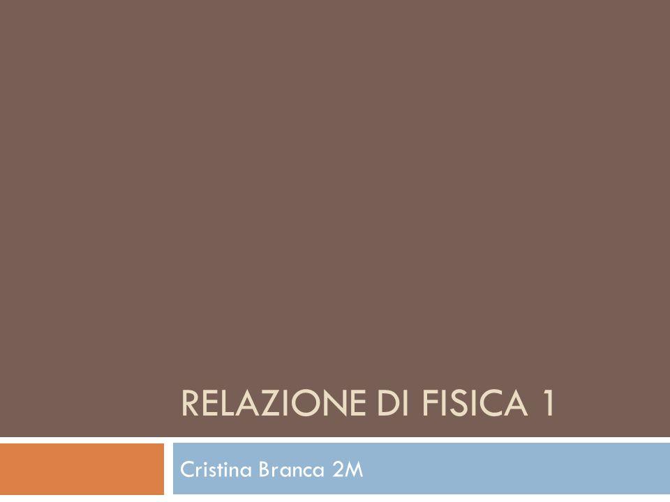 Relazione di fisica 1 Cristina Branca 2M
