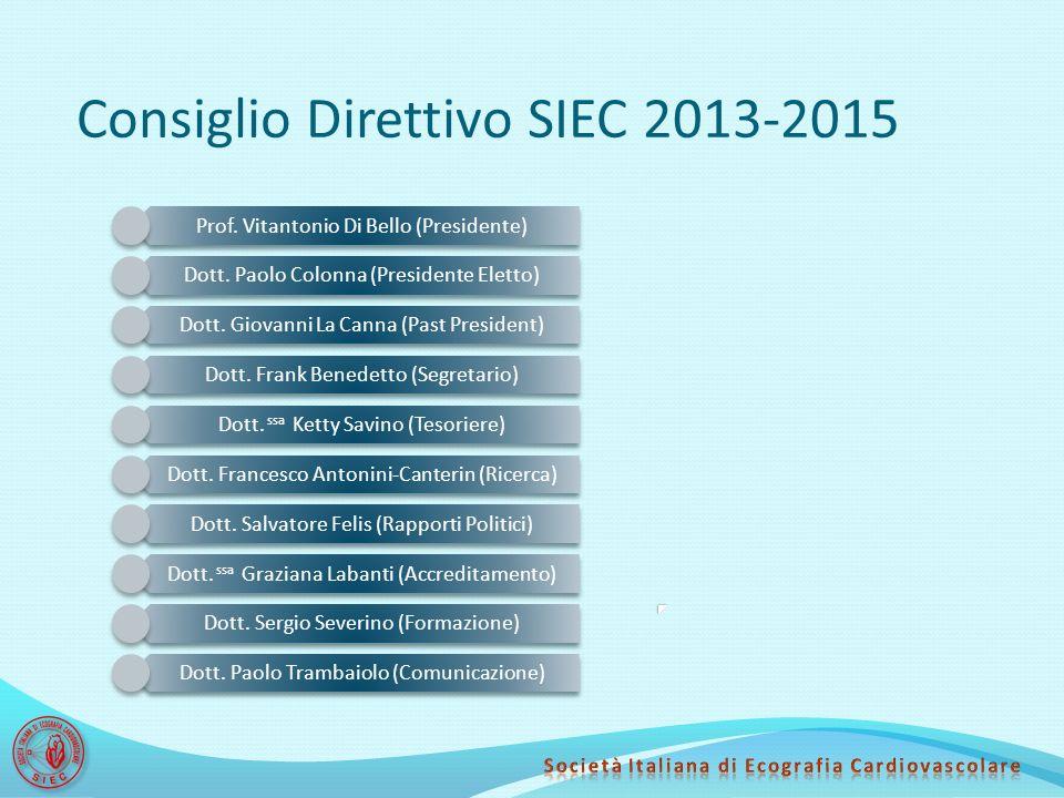 Consiglio Direttivo SIEC 2013-2015