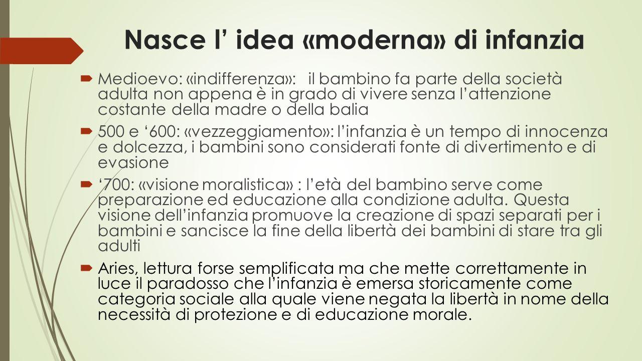Nasce l' idea «moderna» di infanzia