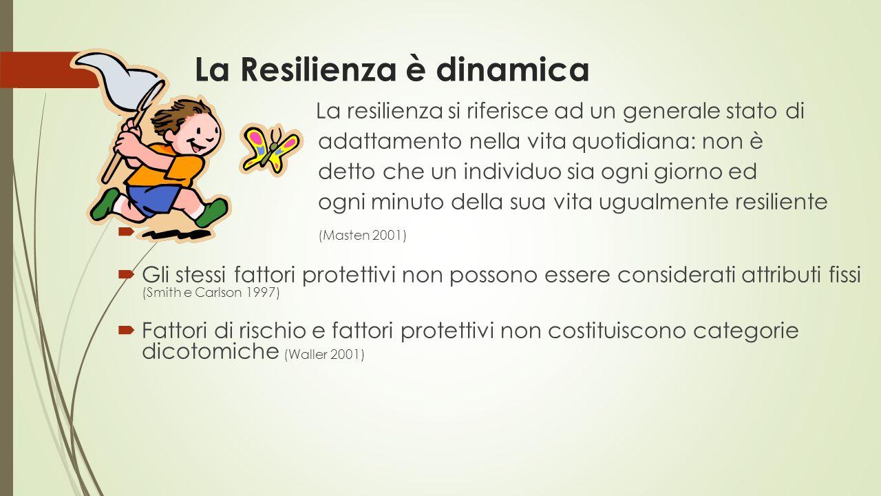 La Resilienza è dinamica