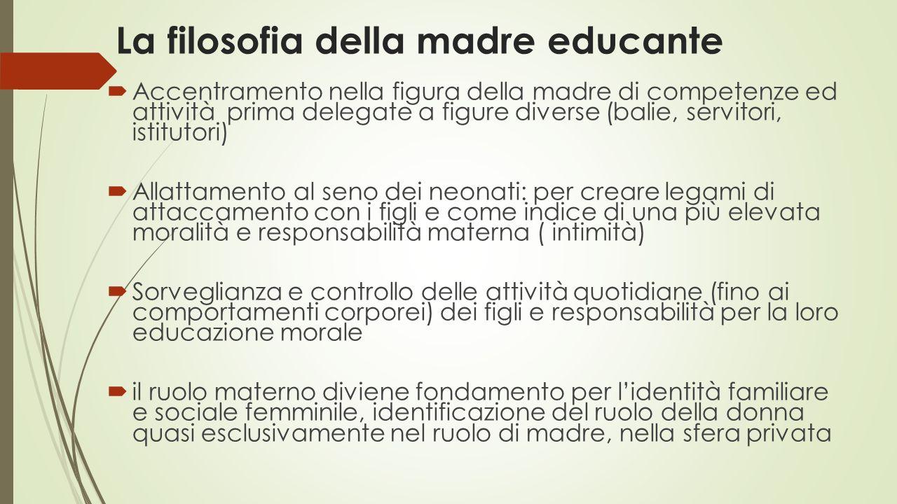 La filosofia della madre educante