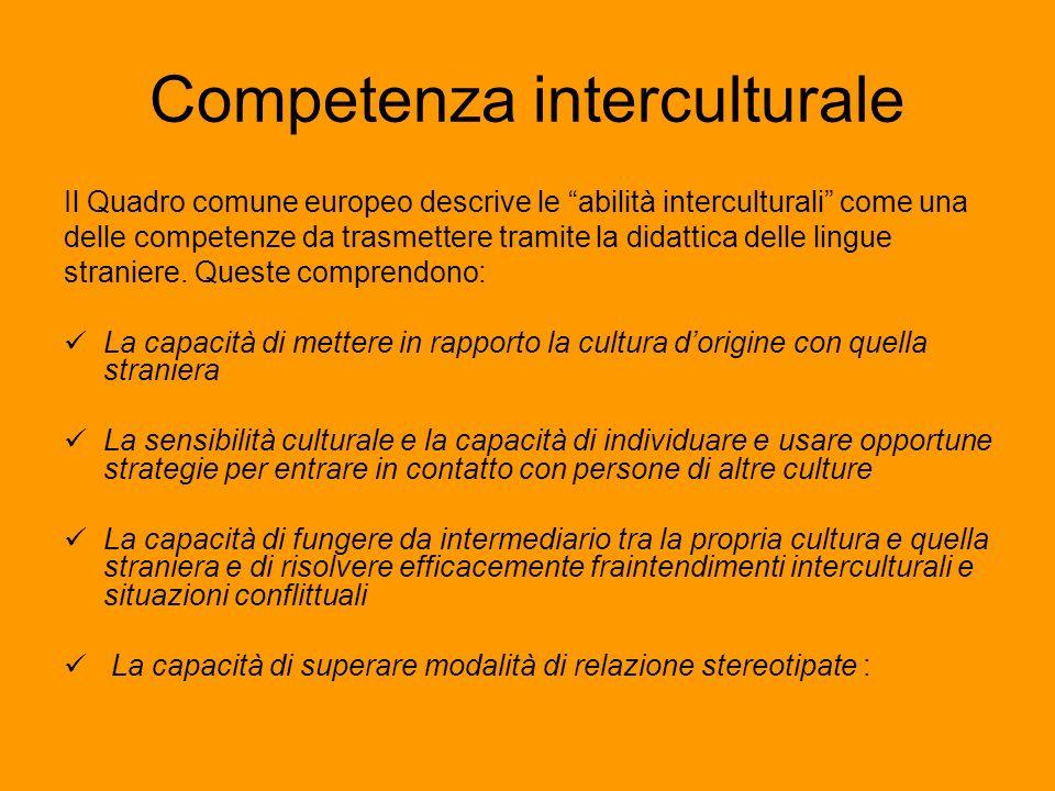 Competenza interculturale