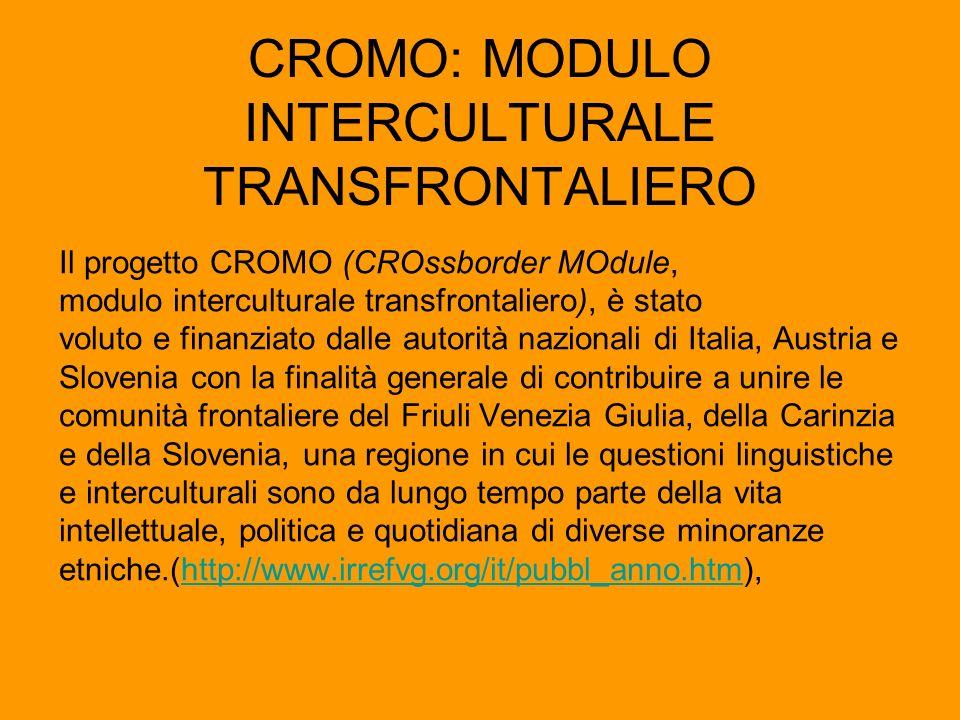 CROMO: MODULO INTERCULTURALE TRANSFRONTALIERO