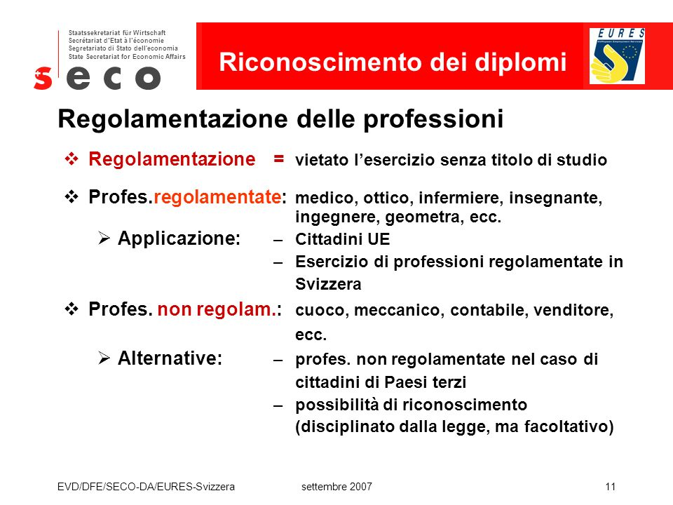 Regolamentazione delle professioni