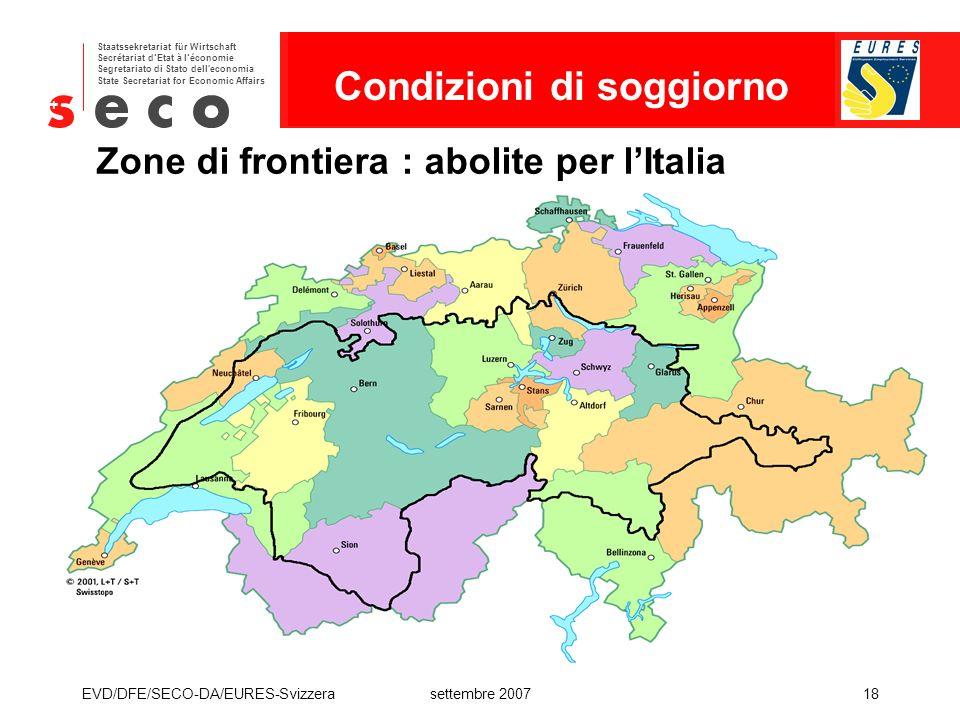 Zone di frontiera : abolite per l'Italia